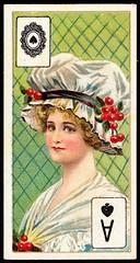 Cigarette Card - Ace of Spades (cigcardpix) Tags: cigarettecards advertising ephemera vintage beauty playingcard