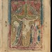Portrayal of the Crucifixion of Christ in a 13th/14th century manuscript