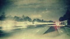 Autobahnverkehr (kokorage) Tags: street blur cars night germany deutschland lights drive highway nacht blurred autobahn autos alternative fahren lichter strase pixlr pixlrexpress