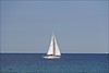 Sail Away (Sue90ca Good Intentions Of Catching Up..Really) Tags: sky sailboat canon clear middle onblue inthemiddle 60d