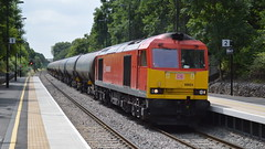 60024, Wilnecote (JH Stokes) Tags: photography transport tracks trains freighttrains tugs railways railwaystations trainspotting locomotives tankers dbs class60 diesellocomotives 60024 wilnecote freightlocomotive dbschenker
