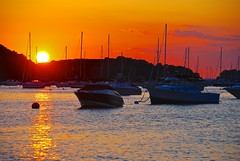 All good things must come to an end..... (ineedathis, the older I get, the more fun I have!) Tags: sunset sea sky sun newyork water clouds reflections boats golden harbor longisland sailboats northport nikond80 dedicatedtogreece