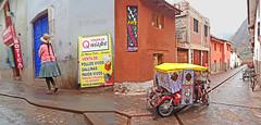 Peru, Pisac village  street views with a tricycle #eru (bilwander) Tags: street travel peru village tricycle cusco solo views pisac bilwander eru