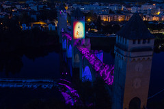 Pont Valentré - illuminations 2014 (-CyRiL-) Tags: france illuminations lot civil pont cahors patrimoine midipyrenees sudouest midipyrénées pontvalentré lotdepartment cyrilbkl departementdulot cyrilnovello grandssites grandsitedemidipyrénées espritlot