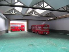 Model bus garage diorama [Explored] (kingsway john) Tags: kingsway models 176 scale modl bus diorama garage interior ggxa pits londontransportmodel model oo gauge explored miniature