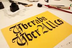 Uberaba ber Alles (Ivan Jernimo) Tags: textura florianpolis gothic brush letter brazilian calligraphy sumi pincel blackletter letra caligrafia uberaba gtica nanquim calligraphie trocadilho  quadrata
