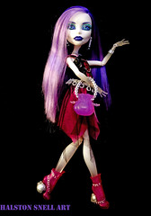 Ghostly Greeting (Cerulean Fish) Tags: black monster toy toys one 1 high doll dolls purple ghost wave spectra basic vondergeist spectratestshots