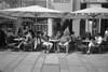 Coffee break with beer (Franco & Lia) Tags: vienna street blackandwhite film analog austria österreich noiretblanc epson rodinal ilford fp4 biancoenero argentique pellicola analogico v500 r09 nikonl35af2