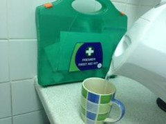 Hot beverage, 1st aid kit (Children & Young People's Research Network) Tags: people hot cup water kitchen coffee kids children kid child tea drink 1st beverage young injury first kettle aid burn burns health research mug network kit pour liquid pouring boiling boil scalding scald cutaneous