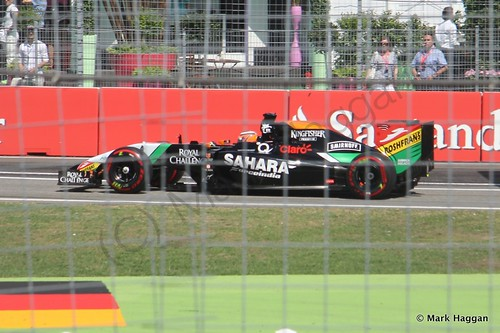 Nico Hulkenberg in qualifying for the 2014 German Grand Prix