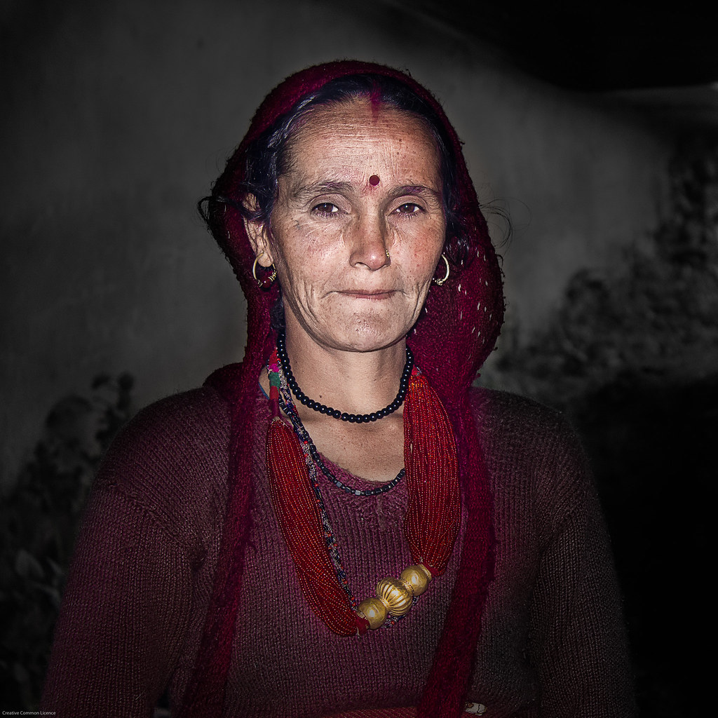 old portrait india man black senior american elder older ethnic citizen humans himalyas uttarakhand