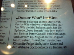 Finally!!! (realdauerbrenner) Tags: cinema kino display who dr text bio drwho