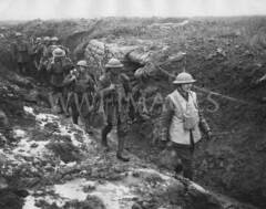 WWI1916N1 (ww1images) Tags: party water cane screw track mud boots path telephone brodie rifle helmet moustache company trench barbedwire roll stick gasmask british slime shelter dugout troops officer patrol weary picket allied puttee jerkin duckboard