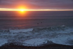 Sunset surfing 2 (green_eyed_gaze) Tags: sunset sea sun seascape beach evening seaside cornwall surf waves purple surfing surfers settingsun bude northcottmouth lucygaze