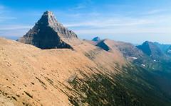 Continental Divide (Xuberant Noodle) Tags: mountain rock landscape montana peak continental glacier divide