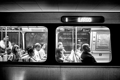 Smithsonian Station (joe808studio) Tags: bw usa station subway smithsonian dc washington fuji  x100