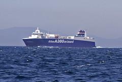 VILLE DE BORDEAUX (tony.evans) Tags: sea rock ferry plane marine ship dolphin vessel container bunker dolphins catamaran airbus a380 gibraltar tanker levante straitofgibraltar bayofgibraltar straitride yachtbunkering britishairwaysstraitride