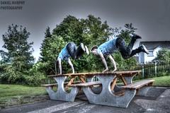 Double Kong (_Daniel Murphy) Tags: bench high dynamic free running kong freerunning vault range hdr parkour