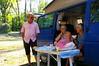 Petit déj avec Josiane et Jean-Jacques au camping de Veliko Gradiste