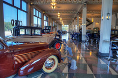 The Auburn Cord Duesenberg Museum (tbower) Tags: architecture geotagged classiccar automobile indiana auburn artdeco hdr historicpreservation auburncordduesenbergmuseum photomatixpro4 nikond3s nikkor24120f4vr