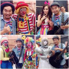 """วันหยุดสนุกสนาน :D """"พี่เอก สุระเชษฐ์"""" กับบรรดาตัวตลก ในงาน Thailand Clown Festival 2014 , ซีคอน บางแค #gardenmusic"""
