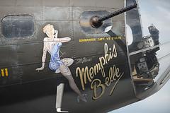 B-17 Bomber - Memphis Belle  - Nose (Bower Media) Tags: philadelphia airplane pennsylvania aircraft aviation wwii b17 bomber flyingfortress b17bomber b29 memphisbelle philadelphiaskyline heavybomber 4engine b17f 91stbombgroup worldwariibomber larrydonoso larryadonoso no124485