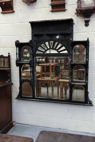 Over Mantle Stained Black with Shelves € 300