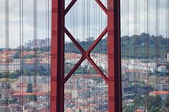 Cenrio de linhas (Hlder Cotrim) Tags: portugal linhas pilar lisboa lisbon ponte cenrio 25deabril lisbonne ao tirantes