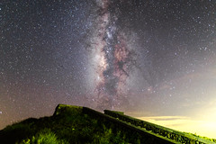 Ladder leading to the sky (JIMI_lin) Tags: galaxy meteor milkyway    hohuanmountain