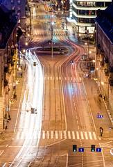 City in motion (Maciek Lulko) Tags: street city longexposure night nikon poland polska streetphoto nightlife nightphotos wroclaw cityatnight nikkor70300 nikond7000