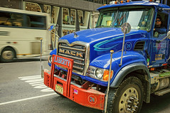 Liberty is menacing (Мaistora) Tags: new nyc blue red usa ny newyork tractor motion blur cup window sunglasses monster metal hub zeiss truck reflections dark t liberty us big power traffic cloudy menacing manhattan steel sony wheels nuts nj machine security pins shades safety explore upper madison chrome cap massive rig illegal jersey huge vehicle beast driver 24mm f18 predator heavy spikes legal menace 60th intimidating dkny might 59th sonnar nex roadworthy maistora 5r aveue e24mmf18za nyc14 sel24f18za nex5r explored01sep14