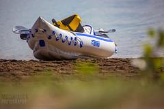 Prairie Oasis 2014 : Beached Inflatable Boat (McCormick Photography) Tags: alberta manmadelake coalpower prairieoasis coalburningplant specialareas 201408311345252f8a1234canoneos5dmarkiii sheernessgeneratingstation