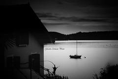 Casetta sul lago (Gianni Armano) Tags: white lake black lago photo barca foto cottage bianco nero sul gianni imagery orta casetta novara armano
