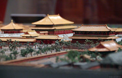 DOF view of the Hall of Supreme Harmony in 1/350th scale (Canadian Pacific) Tags: china toronto canada building architecture miniature display beijing royal palace exhibition special imperial forbiddencity rom royalontariomuseum scalemodel 1350 1350th aimg0610