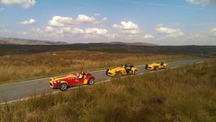 Runout into Wales. 3 Tigers (clive92) Tags: sky cars clouds tiger kit