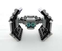 Mini Advanced TIE-fighter rear (lingonfil) Tags: starwars lego tiefighter microscale miniscale advancedtiefighter