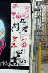 Stenciled Up (See El Photo) Tags: street red 15fav white streetart black color sexy art love metal wall cat canon fence point outside mouse outdoors graffiti alley kat gate colorful shoot artist heart florida felix grafiti miami lock character graf cartoon rifles disney smoking pole chainlink mickeymouse guns fl fav graff ax stencilart nra fictional grafite faved felixthecat favortie stenicl girlsonwalls iheartmia