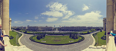 """Hello Budapest"" (The New Motive Power) Tags: panorama architecture buildings boulevard view bright balcony wide lawn sunny parliament palace symmetry peoples romania vista government bucharest palatul parlamentului canon7d"