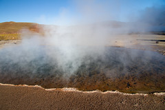 Steaming (^Diana^) Tags: chile southamerica nature water landscape steam thermalsprings atacamadesert 9014 9087 tatiogeyser