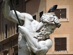 Bird on statue (Andy J Newman) Tags: italy rome birdbrain