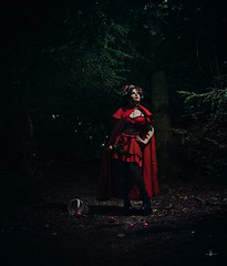 """Everything that a big bad wolf could want"" (Azadeh Brown) Tags: fairytale forest gothic goth medieval littleredridinghood fantasy gothgirl fairies azadeh darkart darkforest newromantic gothbride gothwedding snowwhiteandrosered darkfairytale breadandshutter azadehbrown deadlyd0ll laylagordon"