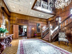 Los Altos Hill CA Morgan Tudor mansion built 1914 (techpro12) Tags: california house architecture stairs living woodwork antique interior tudor historic stairway mansion banister morgan manor foyer oldworld panneling wainscoting roomwainscot