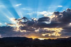 Cloudy Sunset (Antoine Grelin) Tags: canon 7d mii clouds sunset sky blue beautiful sun mountains nevada las vegas nv usa desert