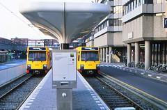 Once upon a time - The Netherlands - Utrecht Central Station (railasia) Tags: holland provinceutrecht utrecht centralstation sun articulatedmotorcar sig deliverydesign infra tramstop terminus eighties
