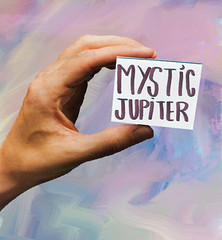 MYSTIC CARD (MYSTIK JUUPITER) Tags: cardcollage collageart mystic magic cutandpaste cute hand collageartist