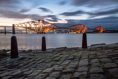 Rail Bridge sunset (r_macnamara) Tags: river forth bridge sunset evening autumn scotland landscape long exposure