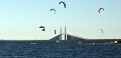 Kite surfing near Skyway Bridge in St. Petersburg (13) (Carlosbrknews) Tags: kitesurfing stpetersburg skywaybridge tampa bay florida