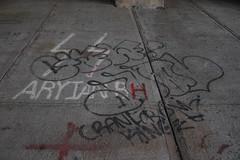 Gaw, Dual (NJphotograffer) Tags: graffiti graff new jersey nj trackside rail railroad bridge gaw hn hellnation hell nation dual