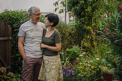 Frank and Beate, September 2016 (Melissa Maples) Tags: ludwigsburg germany europe nikon d5100   nikkor afs 18200mm f3556g 18200mmf3556g vr plants flowers garden summer portrait beate frank green