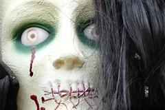 Painted Lady at Haunted Hollow, Weyauwega, WI 10/25/2016 10:44AM (Craig Walkowicz) Tags: woman female mysterious creepy spooky eerie scary disturbing strange odd weird halloween wisconsin ccw lady
